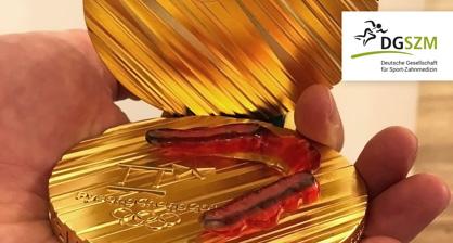 Goldmedaille mit Schiene - DGSZM