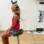 Anja Beranek bei der Vermessung im Sportzahnmedizinischen Institut der DGSZM