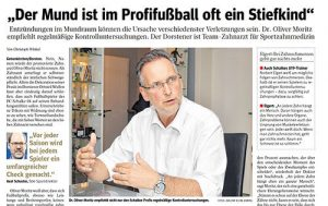 Dr. Oliver Moritz in der WAZ Gelsenkirchen auf Seite 20