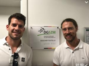 Guido Pawlik, Berlin, sportzahnärztlicher Pioneer in Deutschland und Mitglied der DGSZM, besuchte die Geschäftsstelle und das Sportzahnmedizinische Institut der DGSZM.