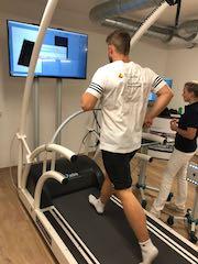 Max Lemke zu Tests im Sportwissenschaftlichen Institut der DGSZM