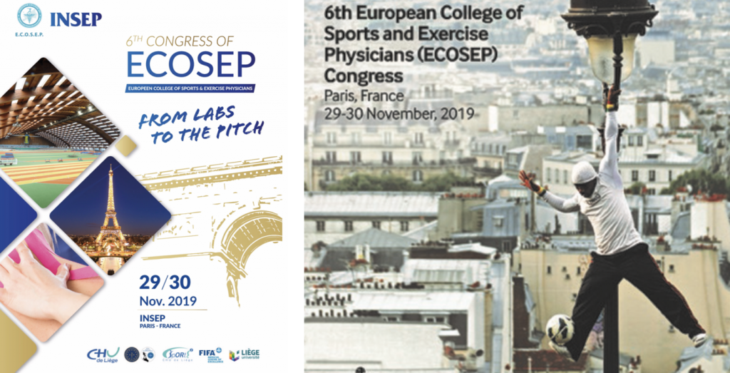 6th European College of Sports and Exercise Physicians (ECOSEP), Kongress vom 29.-30. November 2019