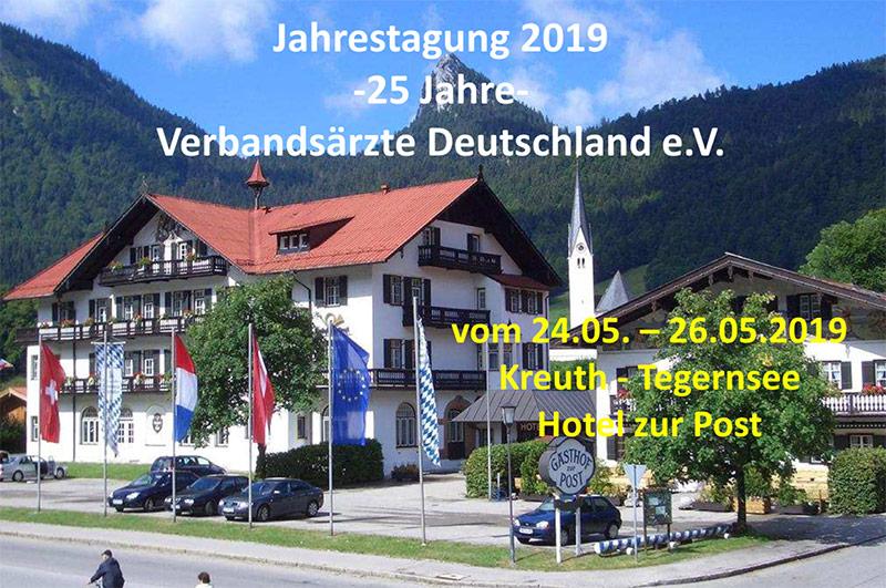 Jahrestagung 2019, Verbandsärzte Deutschland e.V., Kongress vom 25.-26.05.2019